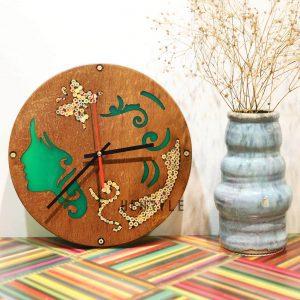 đồng hồ treo tường gỗ nghệ thuật nàng thơ