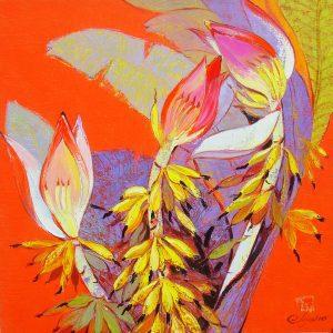 Hoa Chuối Rừng III - Tranh Sơn Dầu Đẹp Của Họa Sĩ Đặng Đình Ngỡ