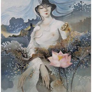 Nàng Sen 7 - họa sĩ Phan Niệm