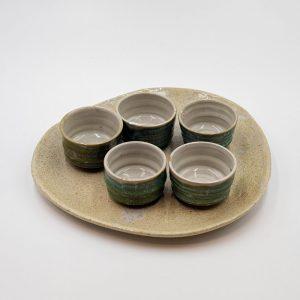 Set chén gốm sứ nghệ thuật cao cấp Camellia