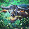 Tân Ngưu - Tranh Acrylic Đẹp Của Họa Sĩ Minh Chính