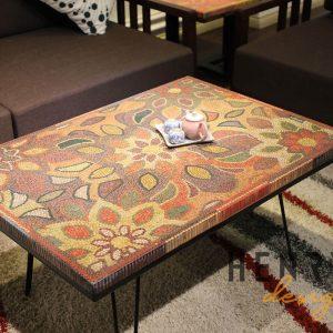 bàn trà phòng khách - bàn trà nghệ thuật bút chì màu giai điệu thiên nhiên