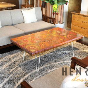 bàn trà phòng khách - bàn trà nghệ thuật khu vườn địa đàng