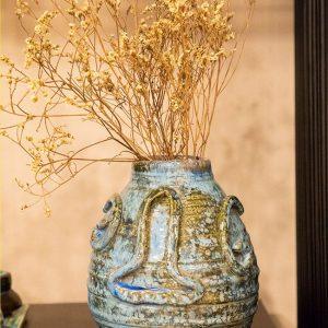 Bình hoa gốm trang trí men lục