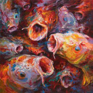 Cá F10 - Tranh Acrylic Đẹp Của Họa Sĩ Mai Huy Dũng