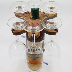 giá treo ly rượu để bàn nghệ thuật 3 ly