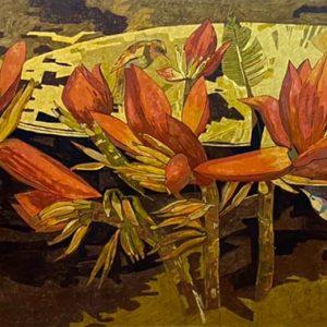 Hoa Chuối 03 - Tranh Sơn Mài Cao Cấp Của Họa Sĩ Đỗ Khải