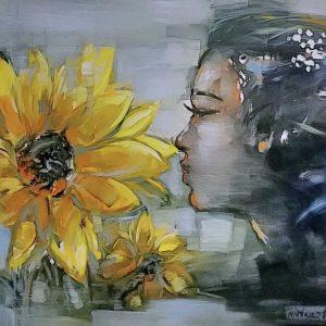 hoa hướng dương - họa sĩ trần ngọc bảy
