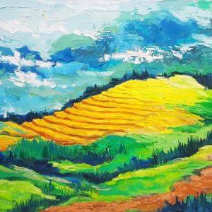 Mây Phủ Hoàng Liên Sơn - Tranh Acrylic Phong Cảnh Của Họa Sĩ Minh Chính