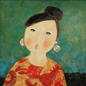 Mẹ Hiền - Tranh Sơn Mài Cao Cấp Của Họa Sĩ Đặng Hiền