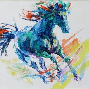 Ngựa Hoang - Tranh Acrylic Đẹp Của Họa Sĩ Mai Huy Dũng