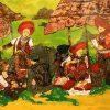 Phiên Chợ Hà Nhì - Tranh Sơn Mài Đẹp Của Họa Sĩ Trần Thiệu Nam