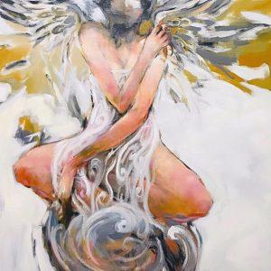 Trong Làn Gió - Tranh Acrylic Đẹp Của Họa Sĩ Trần Ngọc Bảy