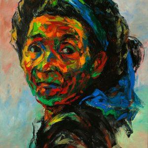 tranh chân dung nghệ thuật tranh sơn dầu phòng khách văn phòng công ty chung cư chân dung 30