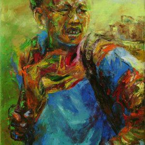tranh chân dung nghệ thuật tranh sơn dầu treo phòng khách chung cư công ty chân dung 09