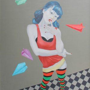 tranh cô gái nghệ thuật phong cách sành điệu