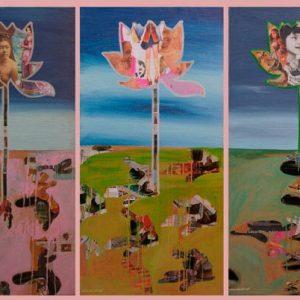 tranh hoa sen nghệ thuật vẻ đẹp của hoa sen