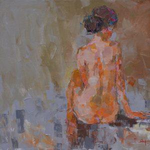 tranh khỏa thân tranh canvas phòng ngủ chung cư khỏa thân 16