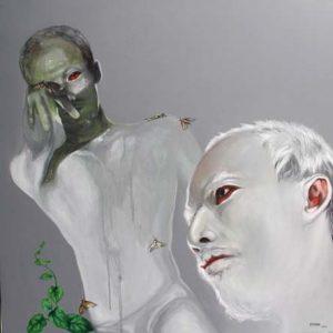 tranh nghệ thuật sơn dầu phòng khách chung cư biệt thự sang trọng sự hủy hoại vô hình 4