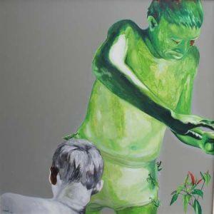 tranh nghệ thuật sơn dầu tranh treo tường phòng khách biệt thự chung cư đẹp sự hủy hoại vô hình 6