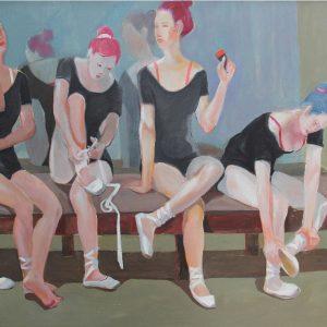 tranh nghệ thuật sơn dầu tranh tường phong khách chung cư đẹp giờ giải lao