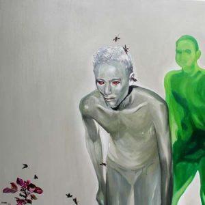 tranh nghệ thuật tranh sơn dầu phòng khách sang trọng treo biệt thư chung cư đẹp sự hủy hoại vô hình 2