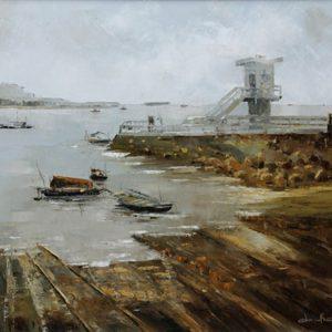 tranh phong cảnh biển tranh nghệ thuật sơn dầu phong khách chung cư trang trí khách sạn văn phòng biệt thự bến sông