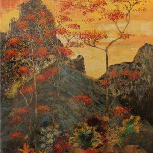 tranh phong cảnh sơn mài đồng văn