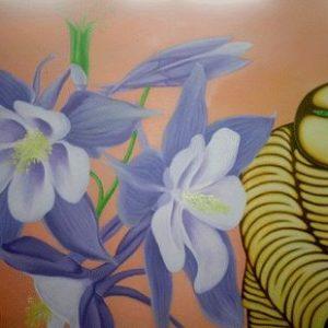 tranh sơn dầu hoa tranh nghệ thuật treo phòng khách đẹp phòng bếp công ty phòng làm việc chung cư hoa lan