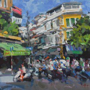 Tranh Sơn Dầu Nghệ Thuật - Góc Phố Tạ Hiện