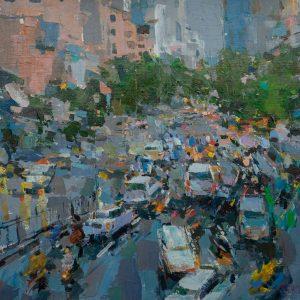 Tranh Sơn Dầu Nghệ Thuật - Hà Nội Giờ Cao Điểm III