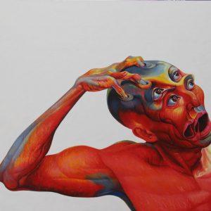 tranh sơn dầu nghệ thuật tranh phòng khách chung cư biệt thự sang trọng tự dằn vặt
