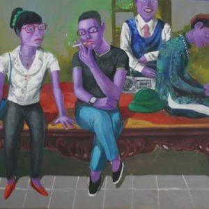 tranh sơn dầu nghệ thuật tranh phòng khách chung cư đẹp các thế hệ trong gia đình