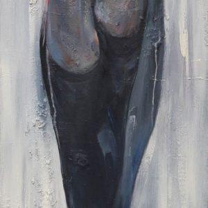 tranh sơn dầu nghệ thuật treo phòng ngủ chung cư đẹp nỗi niềm người phụ nữ 02