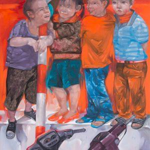 tranh son dau tam chuyen - Luong Trung
