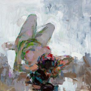 tranh thiếu nữ khỏa thân tranh sơn dầu nghệ thuật trang trí phòng ngủ chung cư khỏa thân 03