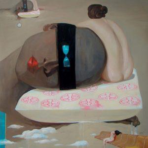 tranh thiếu nữ nghệ thuật tranh phòng ngủ chung cư lãng mạn treo biệt thự khách sạn phòng làm việc đợi chờ hạnh phúc