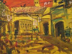 tranh treo tường nghệ thuật giấy dó ngày nắng đẹp