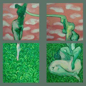 tranh trừu tượng nghệ thuật tranh tứ quý treo phòng khách chung cư những giấc chiêm bao