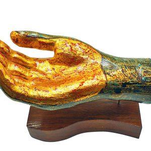 tượng sơn mài trang trí bàn tay II 1